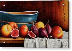 Peaches And Figs Acrylic Print by Horacio Cardozo