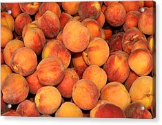 Peaches Acrylic Print by Diane Lent