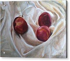 Peaches Acrylic Print by Kyong Burke