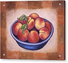 Peaches Acrylic Print by Linda Mears