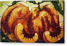 Peaches Acrylic Print by Paris Wyatt Llanso
