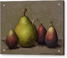 Pear And Figs Acrylic Print by Clinton Hobart