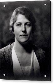 Pearl Buck 1892-1973 Acrylic Print by Arnold Genthe