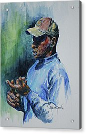 Pearl Fryar Lectures Acrylic Print by Sharon Sorrels
