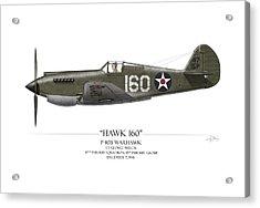 Pearl Harbor P-40 Warhawk - White Background Acrylic Print by Craig Tinder