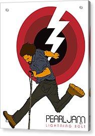 Pearl Jam Lightning Bolt Acrylic Print by Tomas Raul Calvo Sanchez