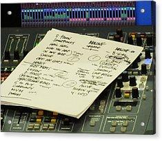 Pearl Jam Set List- Moline Acrylic Print by Gary Koett