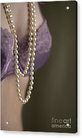 Pearl Necklace Acrylic Print by Lee Avison