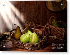 Pears At The Old Farm Market Acrylic Print by Olivier Le Queinec