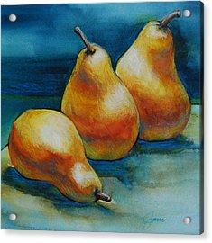 Pears Of Three Acrylic Print by Jani Freimann