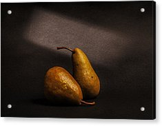 Pears Acrylic Print by Peter Tellone