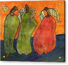 Pears Surrealism Art Acrylic Print by Blenda Studio