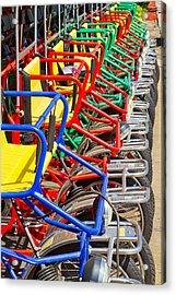 Pedicars Acrylic Print by Bernard  Barcos