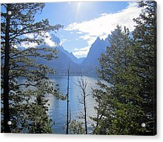 Peek-a-lake Acrylic Print by Mike Podhorzer
