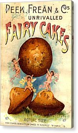 Peek, Frean And Co 1890s Uk Fairy Cakes Acrylic Print by The Advertising Archives