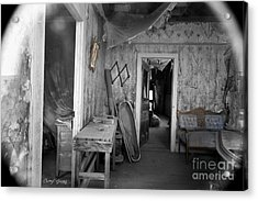 Peeking In The Old Mortuary Acrylic Print by Cheryl Young