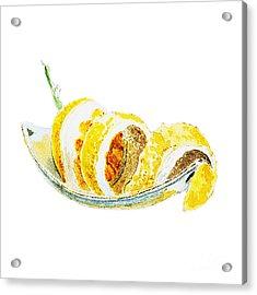 Peeled Lemon Acrylic Print by Irina Sztukowski