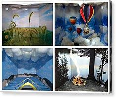 Peepholes Acrylic Print by Michelle Calkins