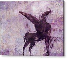 Pegasus Antique Acrylic Print by Lutz Baar
