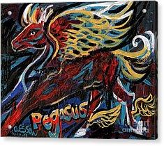 Pegasus Acrylic Print by Genevieve Esson