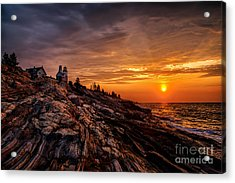 Pemaquid Sunrise  Acrylic Print by Jerry Fornarotto