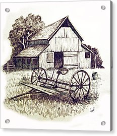 Pen And Ink 8 Acrylic Print by Carol Hart