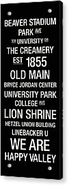 Penn State College Town Wall Art Acrylic Print by Replay Photos