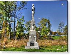 Pennsylvania At Gettysburg - 110th Pa Volunteer Infantry Autumn De Trobriand Avenue Acrylic Print by Michael Mazaika