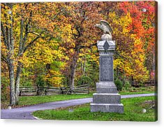 Pennsylvania At Gettysburg - 115th Pa Volunteer Infantry De Trobriand Avenue Autumn Acrylic Print by Michael Mazaika