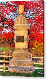 Pennsylvania At Gettysburg - 63rd Pa Volunteer Infantry - Sunrise Autumn Steinwehr Avenue Acrylic Print by Michael Mazaika