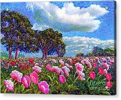 Peony Heaven Acrylic Print by Jane Small