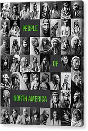 People Of North America Acrylic Print by Aged Pixel