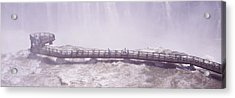 People On Cat Walks At Floodwaters Acrylic Print by Panoramic Images