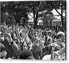 People's Park Rally Acrylic Print by Underwood Archives