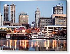 Peoria Illinois Skyline Acrylic Print by Paul Velgos