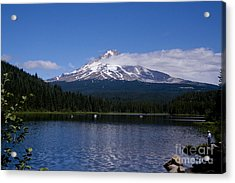 Perfect Day At Trillium Lake Acrylic Print by Ian Donley