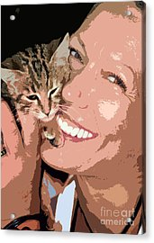 Perfect Smile Acrylic Print by Stelios Kleanthous