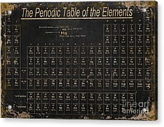 Periodic Table Of The Elements Acrylic Print by Grace Pullen