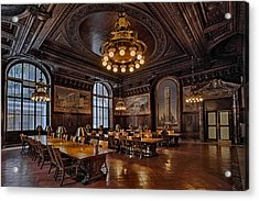 Periodicals Room New York Public Library Acrylic Print by Susan Candelario