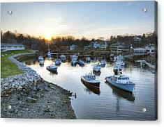 Perkins Cove Acrylic Print by Eric Gendron