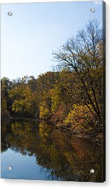 Perkiomen Creek In Autumn Acrylic Print by Bill Cannon