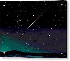 Perseid Meteor Shower  Acrylic Print by Jean Pacheco Ravinski