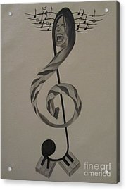 Personification Of Music Acrylic Print by Jeepee Aero