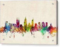 Perth Australia Skyline Acrylic Print by Michael Tompsett