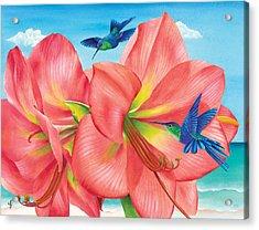 Petal Passion Acrylic Print by Carolyn Steele