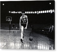 Pete Maravich Dribbling Between Legs Acrylic Print by Retro Images Archive