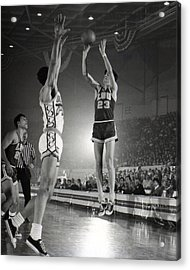 Pete Maravich Jump Shot Acrylic Print by Retro Images Archive