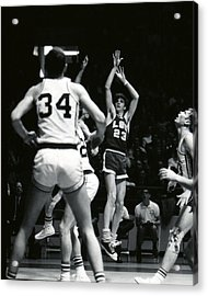 Pete Maravich Shooting Jumper Acrylic Print by Retro Images Archive