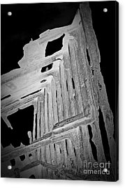 Peter Iredale Reverse Bw 6 Acrylic Print by Chalet Roome-Rigdon