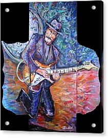 Peter Parcek Plays The Blues Acrylic Print by Jason Gluskin